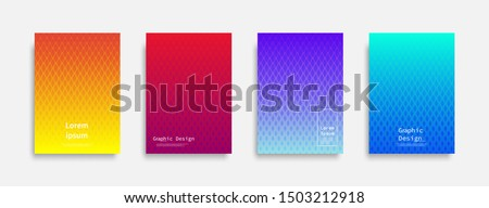 Minimal covers design. Halftone dots colorful design. Future geometric patterns. Eps10 vector. #1503212918