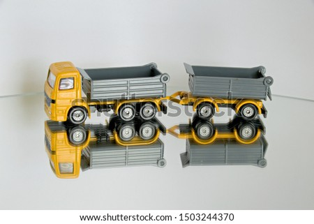 Model truck on mirrored floor #1503244370