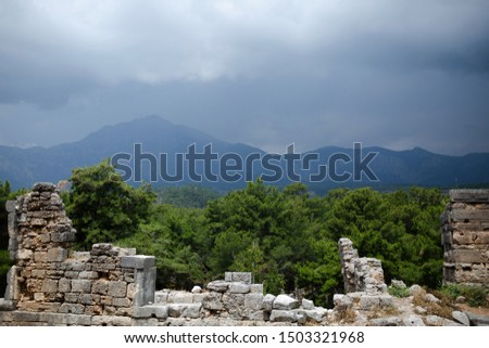 Views of the Bay Phaselis and Tahtali mountain, Kemer #1503321968