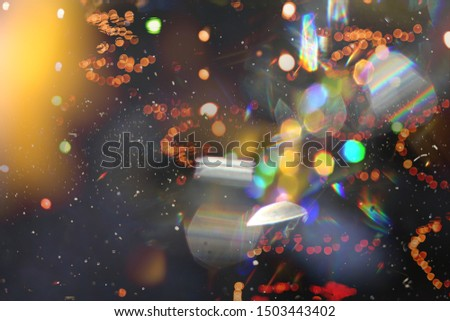 Bokeh light, shimmering blur spot lights on multicolored abstract background #1503443402