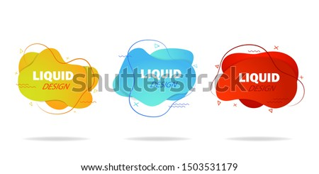 Trendy gradient liquid shape. Fluid isometric background. Graphic shape for social media, advertising. Abstract fluid shape with gradient. Design motion liquid shape for template, post. vector eps10 #1503531179