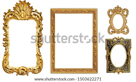 antique isolated golden picture frame #1503622271