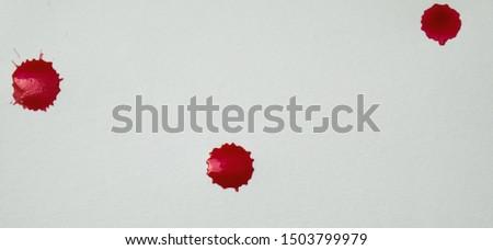 Blood splatters. Realistic bloody splatters for Halloween concept. #1503799979