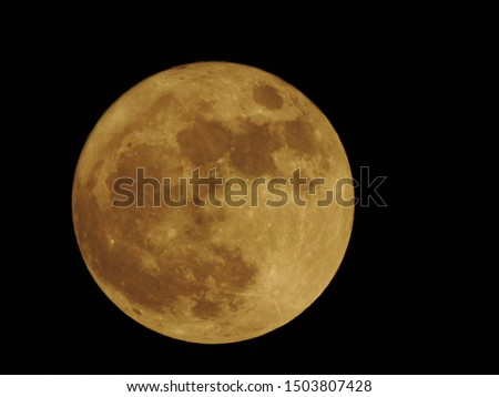 Beautiful Full Moon View Picture