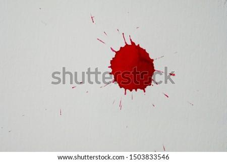Blood splatters. Realistic bloody splatters for Halloween concept. #1503833546