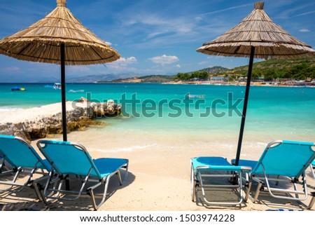 paradise beach in Ksamil in Albania #1503974228