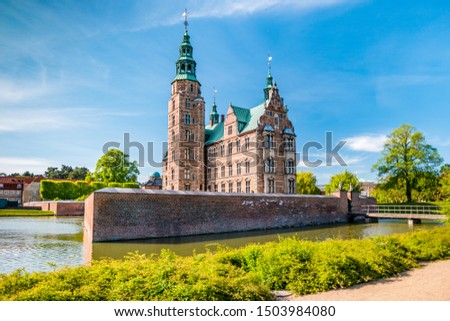 The Rosenborg Castle in Copenhagen, Denmark. Dutch Renaissance style. #1503984080