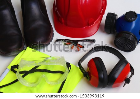 Personal Protective Equipment or PPE for short is mandatory on most work sites.Most construction sites require that a worker at all times at least wears a helmet,protective glasses, and closed shoes #1503993119