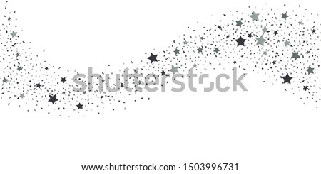 Silver glitter confetti. Light background. White abstract texture. Vector abstract graphic design. New Year Christmas. Silver glitter background. Vector elegant invitation template.