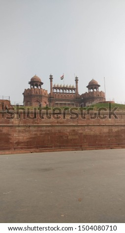 Red Fort is a historical fort in Delhi. Indian Independence day is celebrated by the flag hoisting ceremony by the Prime Minister on this forts main gate. #1504080710