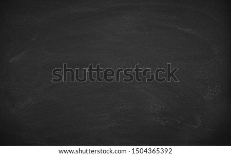Abstract Chalk rubbed out on blackboard or chalkboard texture. clean school board for background or copy space for add text message. Backdrop of Education concepts. #1504365392
