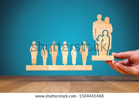 Work life (work-life) balance concept. Family services, family policy and supporting families concepts. #1504445468