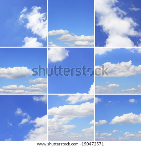 collection blue sky background #150472571
