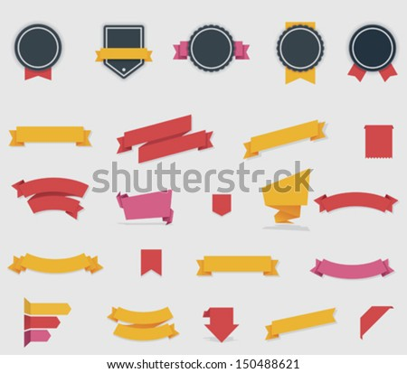 Vector ribbons and labels Royalty-Free Stock Photo #150488621