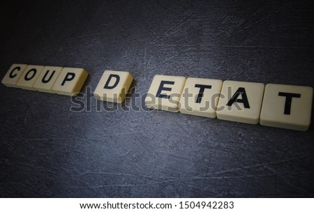 coup d etat, word cube with background #1504942283