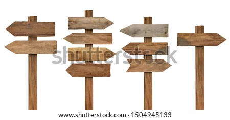 collection of various wooden sign on white background #1504945133