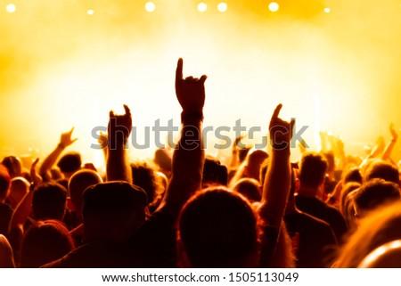 Concert audience at rock concert #1505113049