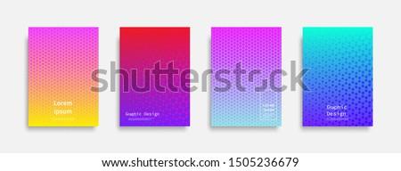Minimal covers design. Halftone dots colorful design. Future geometric patterns. Eps10 vector. #1505236679