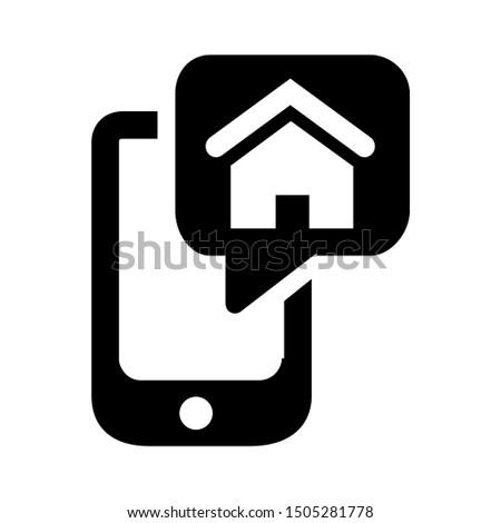 mobile with home icon - From property, commercial house and real estate icons, mortgage icons
