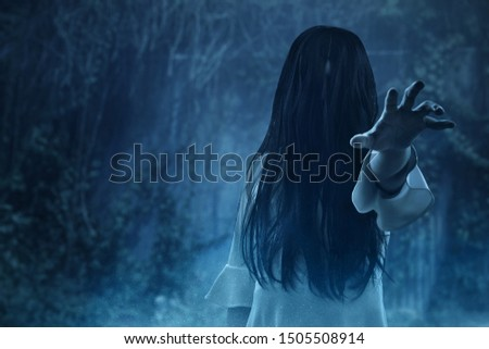 Scary ghost  halloween theme Royalty-Free Stock Photo #1505508914