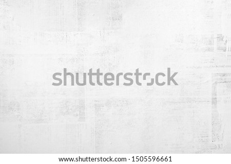 OLD NEWSPAPER BACKGROUND, BLANK GRUNGE PAPER TEXTURE, BLACK AND WHITE TEXTURED PATTERN Royalty-Free Stock Photo #1505596661