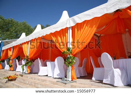 summer cafe under awning #15056977