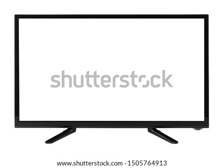 Windscreen led or lcd internet tv monitor isolated on white background #1505764913