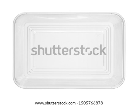 Plastic food box disposable top view (with clipping path) isolated on white background #1505766878