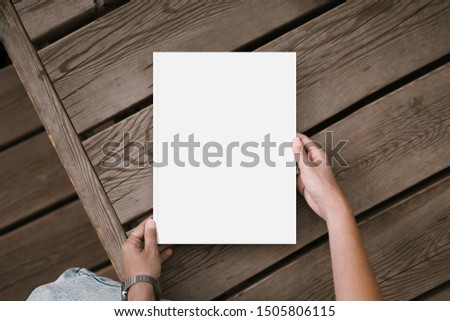 Mock up go white notebook and white sheets, template can be used for your design  #1505806115