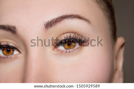 A beautiful insightful look woman eyes. Close up shot. #1505929589