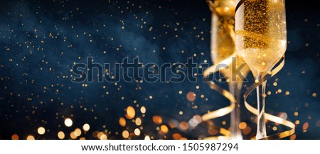 Happy New Year. Christmas and New Year holidays background with copy space. Royalty-Free Stock Photo #1505987294