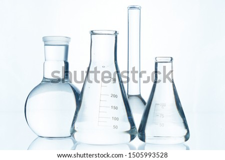 The glass bulb. Chemical flask. Chemical vessels. Glassware.  #1505993528
