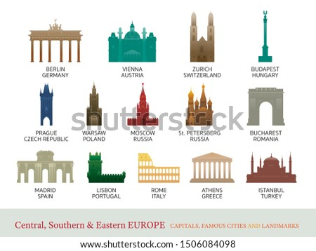 Central, Southern and Eastern Europe Cities Landmarks, Capitals, Famous Place, Buildings, Travel and Tourist Attraction #1506084098