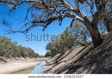Darling River outback NSW Australia Royalty-Free Stock Photo #1506353597