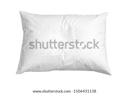Blank soft pillow on white background isolated with clipping path #1506431138