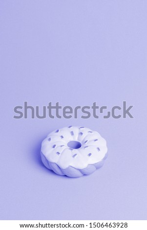Blue background with isometric donut #1506463928