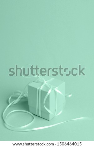 Green background with isometric gift #1506464015