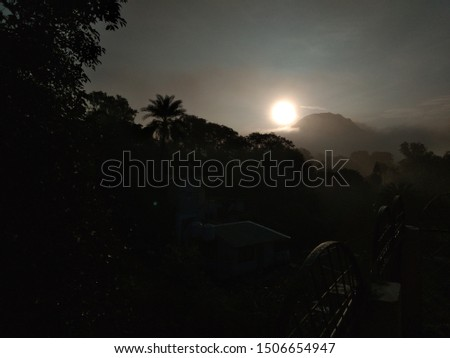 Beautiful morning with awesome sunrise. Good nature picture