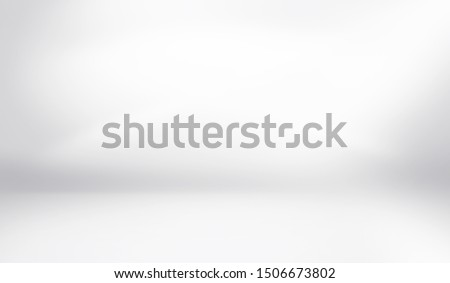 Abstract studio background gradient silver gray wall in empty room template with bright clear light, can use for interior background and your products display