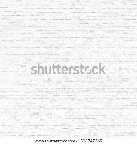 white background subtle brick wall texture seamless pattern wallpaper design template #1506747365
