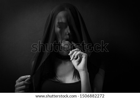 mystical portrait of a beautiful girl #1506882272