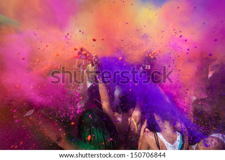 Color festival Royalty-Free Stock Photo #150706844