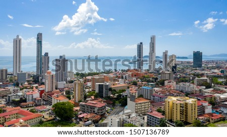 Panama City, Panama Aerial Cityscape #1507136789