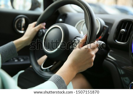 driver's hands on a car steering wheel #1507151870