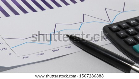 Bar Chart, Pie Chart, Line Chart In dark slate blue color with white background #1507286888