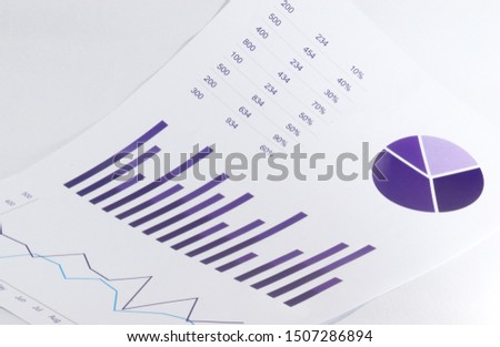 Bar Chart, Pie Chart, Line Chart In dark slate blue color with white background #1507286894