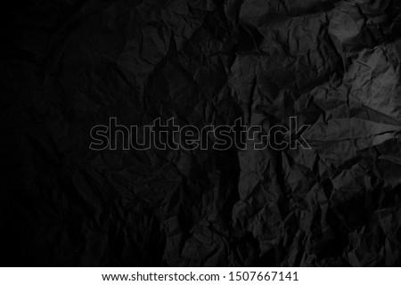 Black crumpled paper texture. Grunge background #1507667141