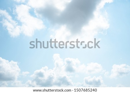 Blue sky white cloud white background. #1507685240