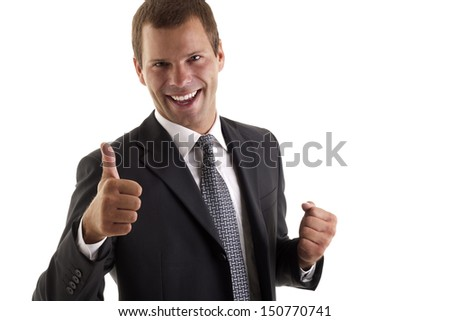 Business man with ok sign #150770741