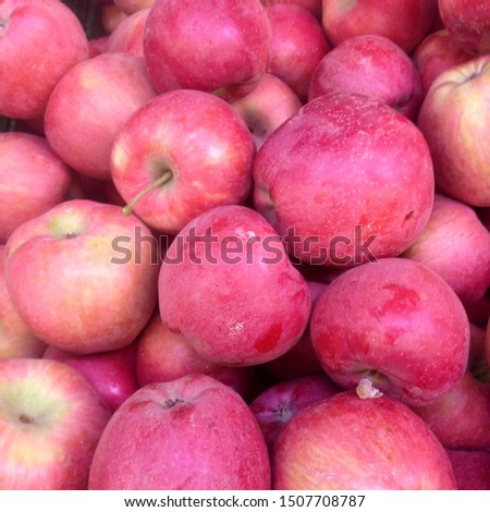 Macro Photo food fruit red apples. Texture background pattern ripe juicy fruits apples. Image product red apples